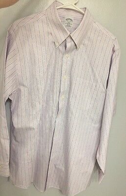 Brooks Brothers Non-Iron Original Polo Button Down Long Sleeve Shirt Size 16 1/2