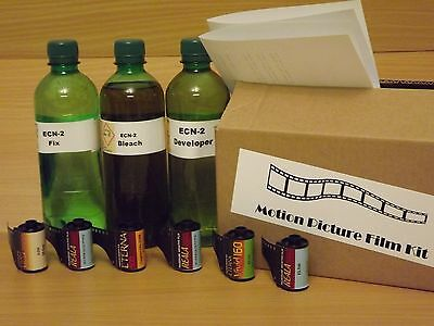 ECN-2 Chemistry kit inc 6 Fuji Motion Picture Films. Reala, eterna, Vivid 35mm