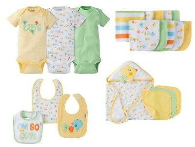 Gerber Girl OR Boy Unisex Baby Clothes Bundle Yellow Chicks Set Size 0-3M