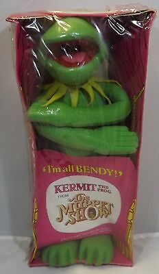 VINTAGE 1970s BOXED BENDY TOYS MUPPET SHOW FOAM RUBBER KERMIT THE FROG