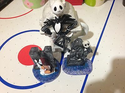 Jack & Sally Salt Pepper Shakers Nightmare Before Christmas Creamer Pitcher Lot