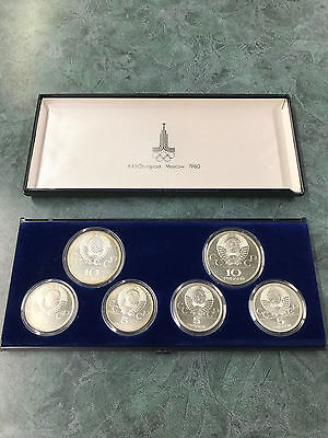 Russia Silver Set - 6 Coins - Xxii Olympiad Moscow 1980- Proof