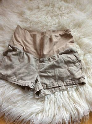 Old Navy Maternity Shorts Tan Small Cozy Comfy  Linen Blend