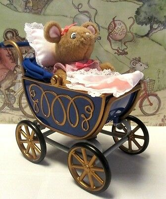 American Girl Angelina Ballerina Polly Doll and Pram with Blanket & Pillow, VGC