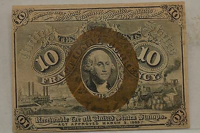 1863 Second Issue 10 Cents Fractional Currency *Surcharge 5-18-63* FR-1246 *Q05