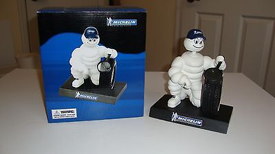 Michelin Man Bobble Head Figure Inspecting Tire