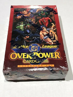 1997 Fleer DC Justice League OverPower Expansion Set Factory Sealed 36 CT Game