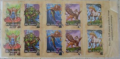 4 Oct 2011 Stamp Collecting Month: Mythical Creatures Sheet Mnh Unused