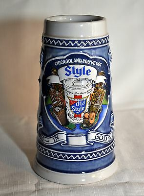 Old Style Oversized Beer Stein Heavy Stoneware ~ Chicagoland, You've Got Style