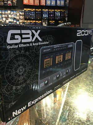 Zoom G3X Multi Effects / Amp Simulator w/ Expression Pedal for Electric Guitars