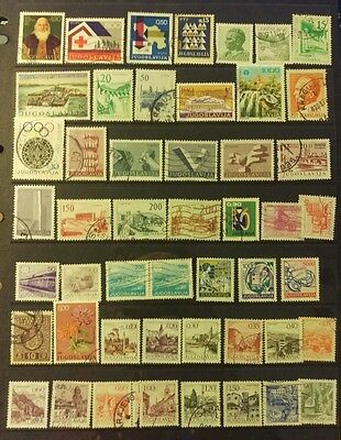 Yugoslavia Stamp Selection used a5