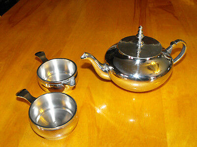 Tea Kettle Stainless Steel for 1 Person + 2 Acessories