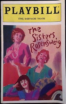 The Sisters Rosensweig Playbill March 1993
