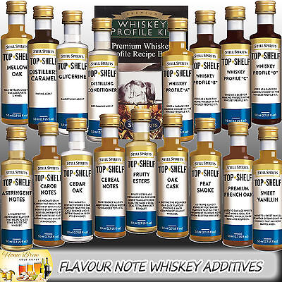 Top Shelf Whiskey Essence Flavour Notes & Additives Kits Still Spirits Home Brew