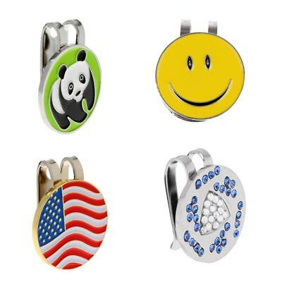 4 Pieces Alloy Metal Golf Magnetic Ball Marker with Hat Clip Golf Accessory