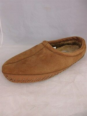 Orvis Men's sz 13M Brown Genuine Shearling Leather Suede Moccasin Slippers