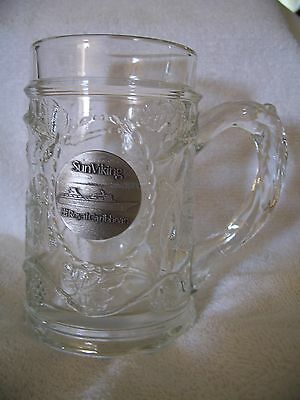 Royal Caribbean Cruise Lines, SUN VIKING Pewter Logo 12-oz. Beer Mug Stein EUC