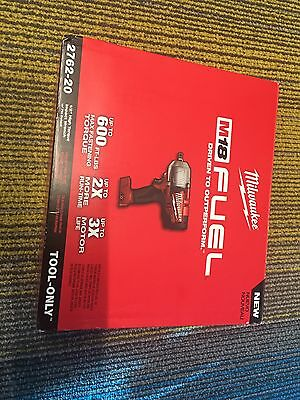 "2762-20 M18 FUEL 1/2"" High Torque Impact Wrench Milwaukee New In Box"