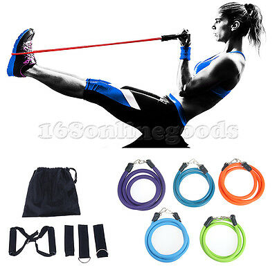 Exercise Resistance Bands Training Leg Thigh Fitness Yoga Physio Crossfit Tubes
