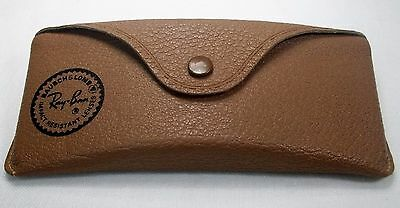 Vintage BAUSCH & LOMB Impact Resistant RAY-BAN Tan Sunglass Case Only