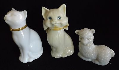 Vintage Retro Avon Perfume Bottles - Cat Blue Eyes, Cat Occur! Sheep Little Lamb