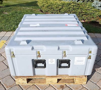 """Pelican Hardigg 50x46x24"""" Military Hard Case Shipping Container 4 Lids w/ Valve"""