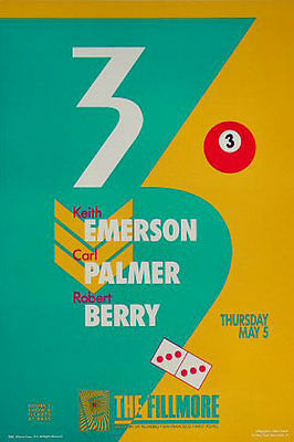 3 Emerson Palmer and Berry 1988 Fillmore SF F11 Poster Lake by Libbie Schock