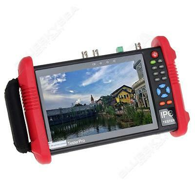 "IPC9800ADH 7"" Touch Screen Analogy TVI CVI AHD CVBS IP 5MP Camera CCTV Tester 9P"