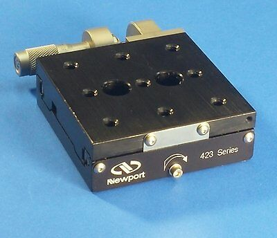Newport 423 Linear Translation Stage w/ SM-13 Micrometer (1/4-20 holes, x-roller