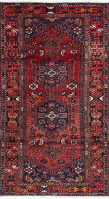 "Hand-knotted Persian Carpet 3'7"" x 6'3"" Persian Wool Rug...DISCOUNTED!"