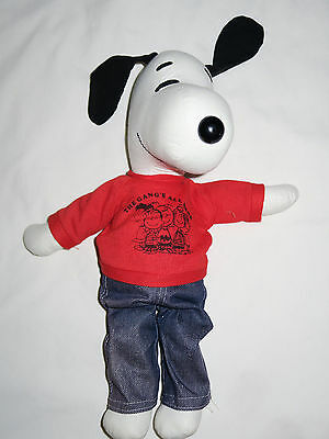 """Vintage 1968 Snoopy The Gangs All Here Plush 14"""" Peanuts EUC"""