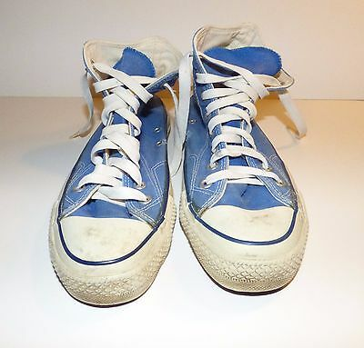 Vintage CONVERSE Chuck Taylor All Star High Top Sneakers Shoes BLUE Size 8