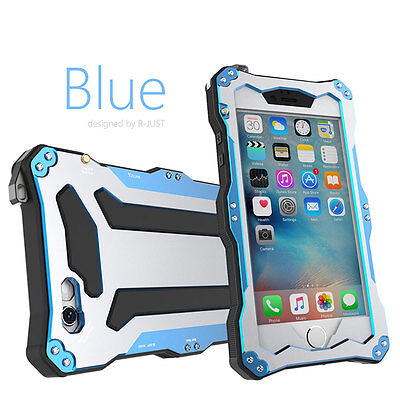 Hot R-JUST Shockproof Metal Gorilla Glass Protector Case Cover For iPhone 6 6S