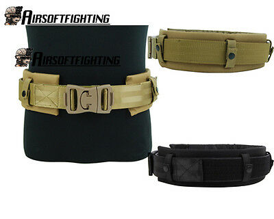 1000D Nylon Tactical Duty Belt with Detachable Waist Support Protection Pad