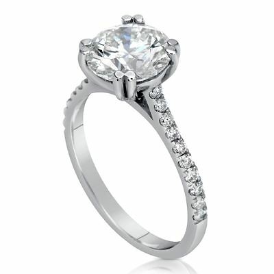 2.06 Ct Round Cut Vs Diamond Solitaire Engagement Ring 18K White Gold
