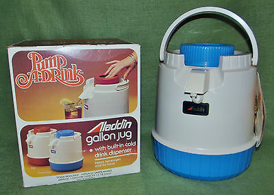 Vintage Aladdin Pump-a-Drink 1 Gallon Jug New Old Stock Coventry Blue Unused!