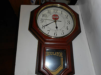 "Coca-Cola Regulator Clock   Soda Clock, Coca Cola Soda Sign 19""t X 12'w X 3""d"