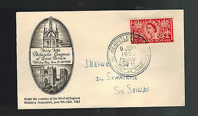 1953 Whitley England First Day Cover Queen Elizabeth II coronation FDC QE2