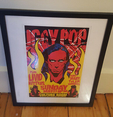 Iggy Pop Framed 2001 Concert Poster - May 27th in Fort Lauderdale
