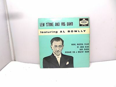 """LEW STONE AND HIS BAND FEATURING AL BOWLLY DECCA DFE6574   7"""" 45's  VINYL"""