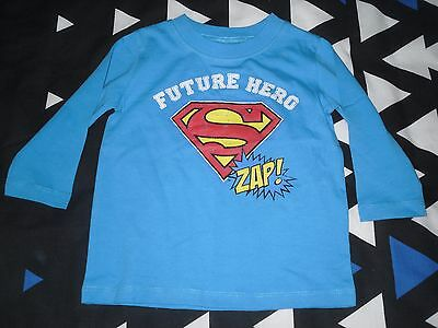 Boys brand new SUPERMAN long sleeve top size 0