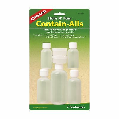 Coghlan's Store N' Pour Contain Alls 7-Piece Plastic Reuseable Food Containers