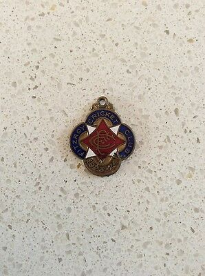 Fitzroy Cricket Club enamel badge 1923 - 24 medal medallion