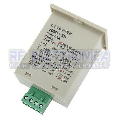 JDM11-6H Electronic Accumulating Cumulative Summary Counter 220V