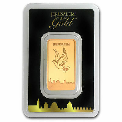 Pure Gold Bar 999.9 - 1/2 OZ  The Holy Land Mint Israel