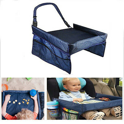 Kids Travel Tray Table Baby Buggy Pushchair Snack Car Seat Laptray Hot