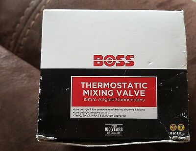 boss thermostatic mixing valve 15mm angled