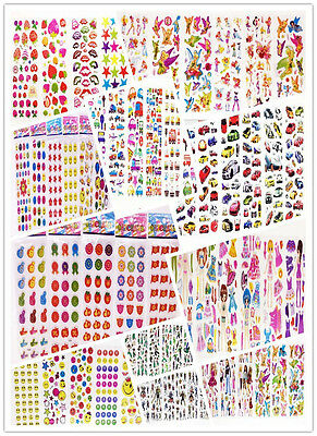 Sticker Lot / 3d Children Cartoon Early Learning Bubble Stickers/Funny kids Gift