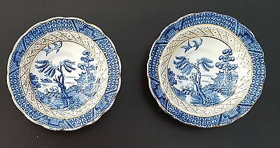 Booths Real Old Willow Saucer x 2