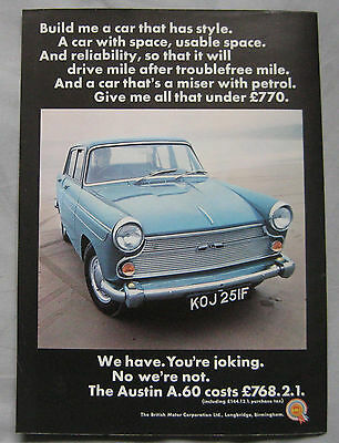 1968 Austin A60 Original advert